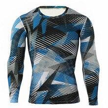 Men's compression Long Sleeve T-Shirt + tights for men Set 2 piece tracksuit men