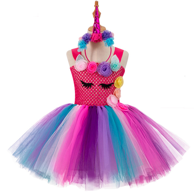 Unicorn Party Girls Dress Easter Carnival Costume Kids Dresses For Girls Clothes Toddler unicorn Cosplay Princess Dress Vestidos