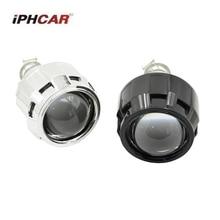 Comparación de precios 2 piezas 2,5 pulgadas bi-xenon hid lente del proyector con cubiertas H1 H4 H7 motocicleta lente del proyector hid Coche faro faro coche de estilo