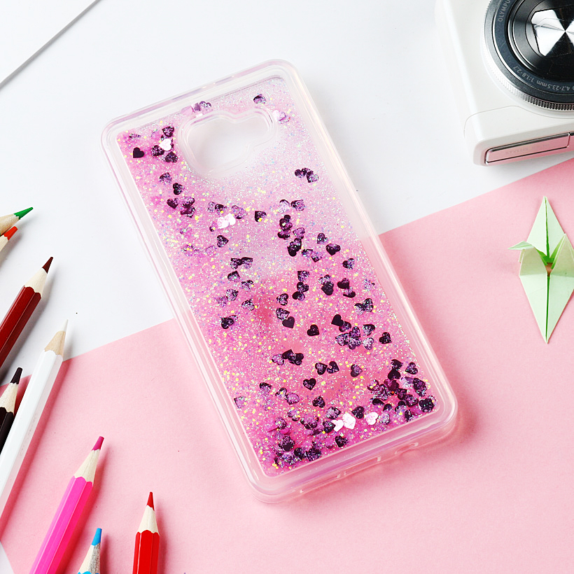 Glitter Liquid Case For Samsung Galaxy S5 Note 5 4 Case For Samsung A5 A3 J5 J7 Prime 2017 2016 2015 S10 S10E J4 J8 J6 Plus 2018