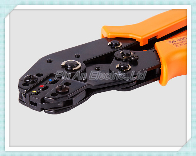 SN-02C RATCHET CRIMPING TOOL PLIER FOR INSULATED TERMINALS - BULLETS BUTT RING CRIMP
