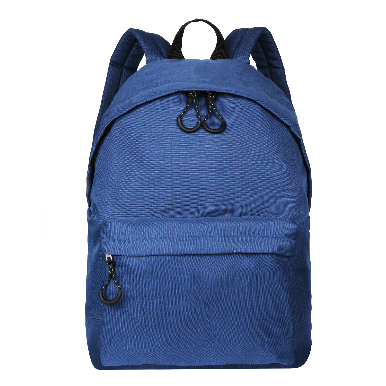 Korea Style Fashion Backpack for Men and Women Preppy Style Soft Back Pack Unisex School Bags Big Capacity Canvas Bag, Dark Blue