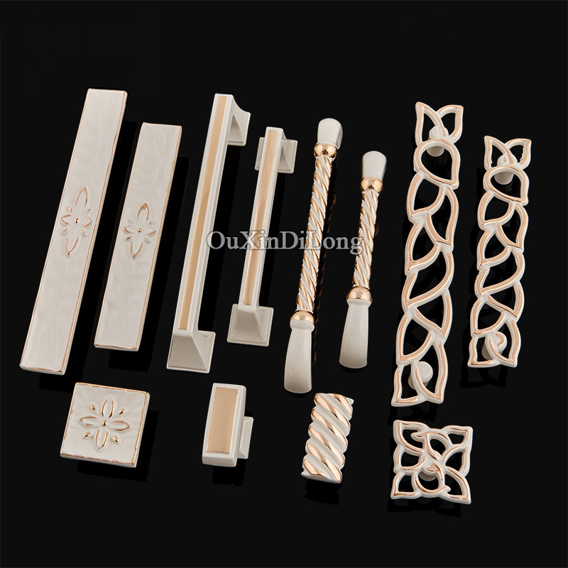 Elegant&Beauty 10PCS European Kitchen Door Furniture Handles Hardware Cupboard Wardrobe Drawer Wine Cabinet Pulls Handles&Knobs 2017 free shipping european kitchen handle ivory white drawer wardrobe door handles modern simple hardware wine cabinet pulls