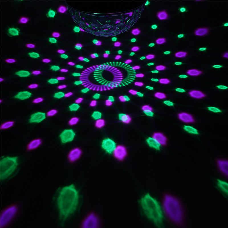 12 Вт AC 110 V-240 V светодиодный ночник кристалл магический шар лампа rgb диско ди-джей вечерние клуба шоу на сцене свет дистанционного Управление световой эффект