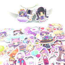 40 Pcs/lot Anime little girl funny paper Sticker Decal For Phone Laptop Bicycle Notebook Backpack Kids Toy stickers scrapbooking