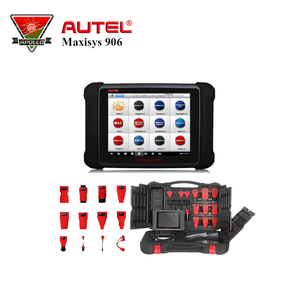 Autel MaxiSys MS906 Automotive Diagnostic Full System MS906 Powerful than MaxiDAS DS708 DS808 Update Online autel maxidas ds808 auto diangostic tool perfect replacement of autel ds708