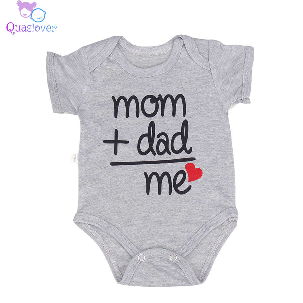 Newborn Baby Bodysuit Summer Clothes Boys Girls Jumpsuit Letter Short Sleeve Cotton Clothes Infant Outfits 0-18M for Kids Gifts