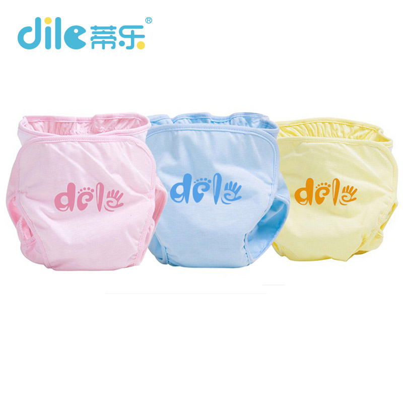 Dile Baby Diapers training pants Infant Nappy Cloth Comfortable Cover Adjustable 1 12m Reusable