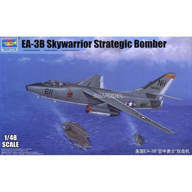 1/48 United States EA-3B Skywarrior Strategic Bomber Assembly Model 02871