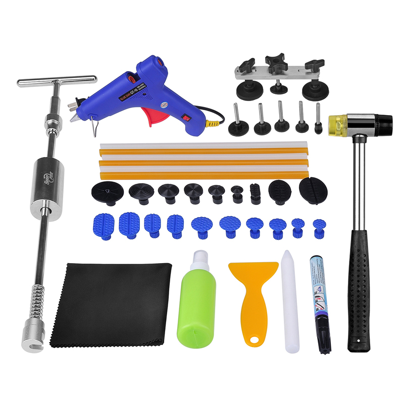 PDR Tools Dent Removal Paintless Dent Repair Dent Puller Slide Hammer Pulling Bridge Hammer Tool Set