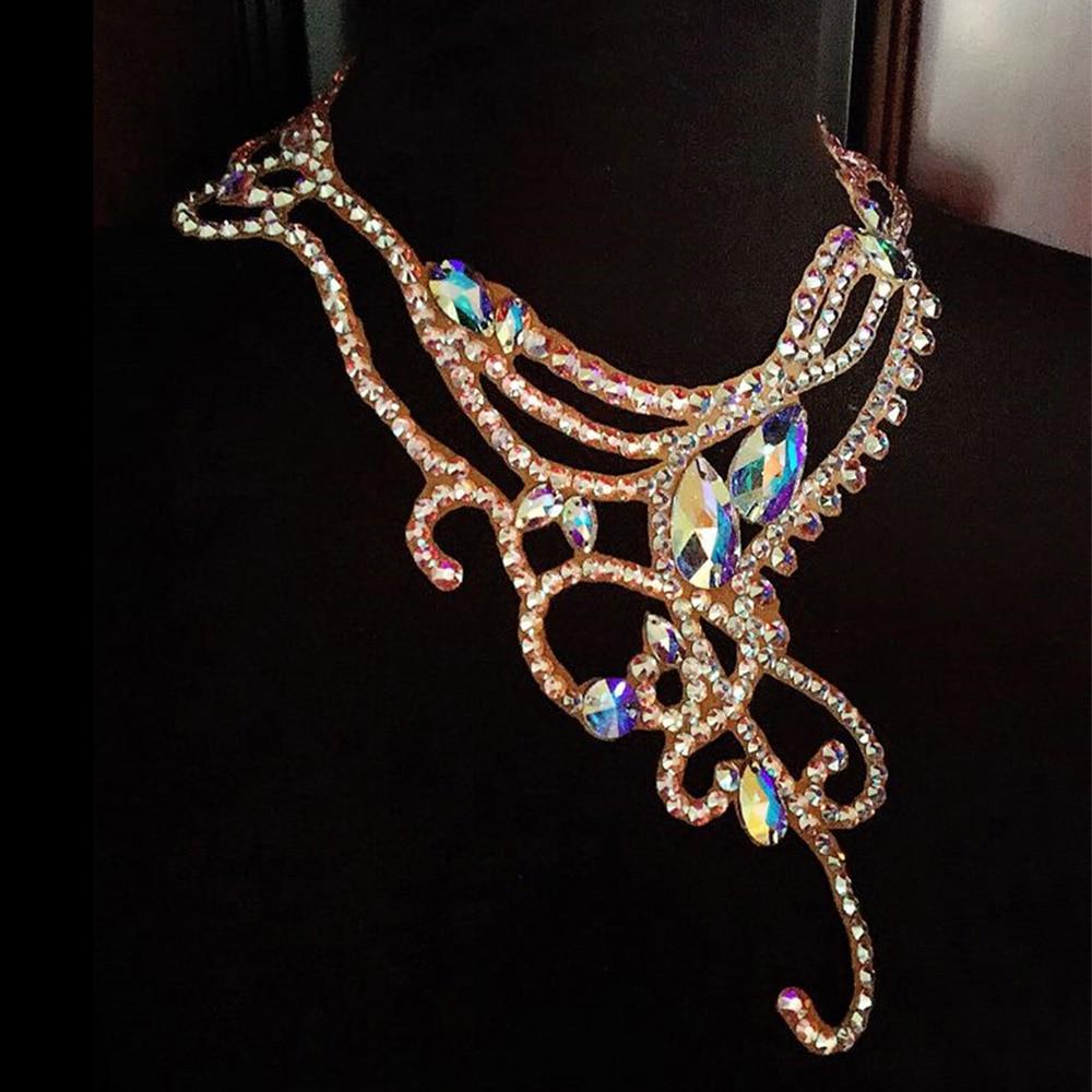 2018 Новое поступление латинские танцевальные аксессуары австрийский бриллиант танцевальное ожерелье женское латинское танцевальное ожере