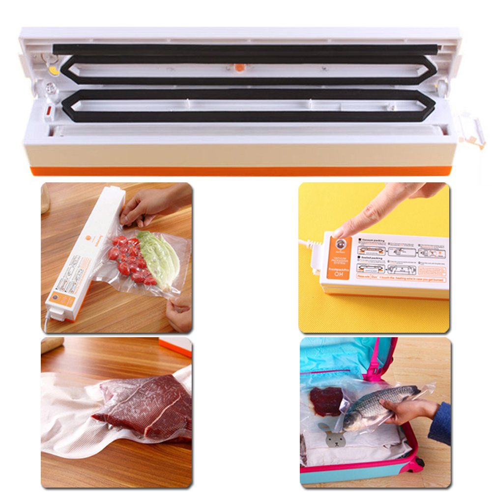 2016 Hot Sale New Household Automatic Electric Vacuum Food Sealer Packaging Machine Automatic Electric Film Vacuum Packer sf 270 220v household food vacuum sealer packaging machine film sealer vacuum packer 300w manual sealing machine