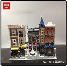 Lepin 15019 4002 unids MOC Ciudad Arquitectura Serie La Plaza de Montaje Conjunto de Bloques de Construcción Ladrillos Juguetes Pequeño pedazo de bloque 10255