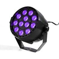 12x3W UV Led Stage Light Par Light Ultraviolet0 Led Spotligh Lamp With DMX512 For Disco DJ