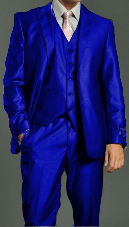 Bright Blue Mens Suit | My Dress Tip