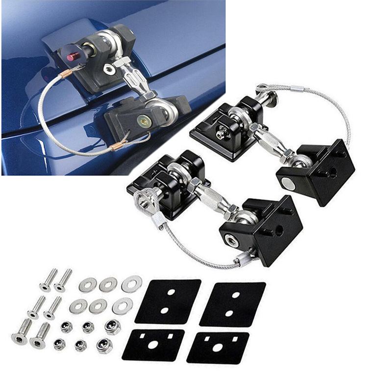 For Jeep Wrangler JK JL 2007-2018 Metal Retro Style Car Exterior Lock Hood Latch Catch Decoration Engine Cover Protect bbq fuka hood latch catch lock bracket latches buckle fit for jeep wrangler jk unlimited 2007 2016 car accessory