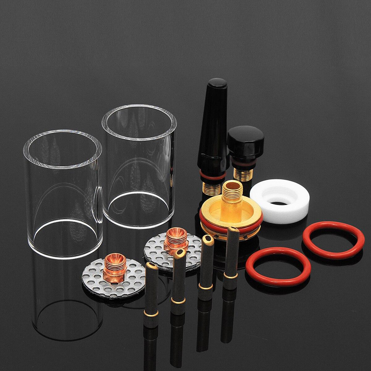 1Set 14Pcs TIG Welding Torch Stubby Gas Lens Glass Cup Kit For WP17/18/26 Series 2.4mm 3/32'' 1set 14pcs tig welding torch stubby gas lens glass pyrex cup kit 3 2mm 1 8 for wp17 18 26 welding series