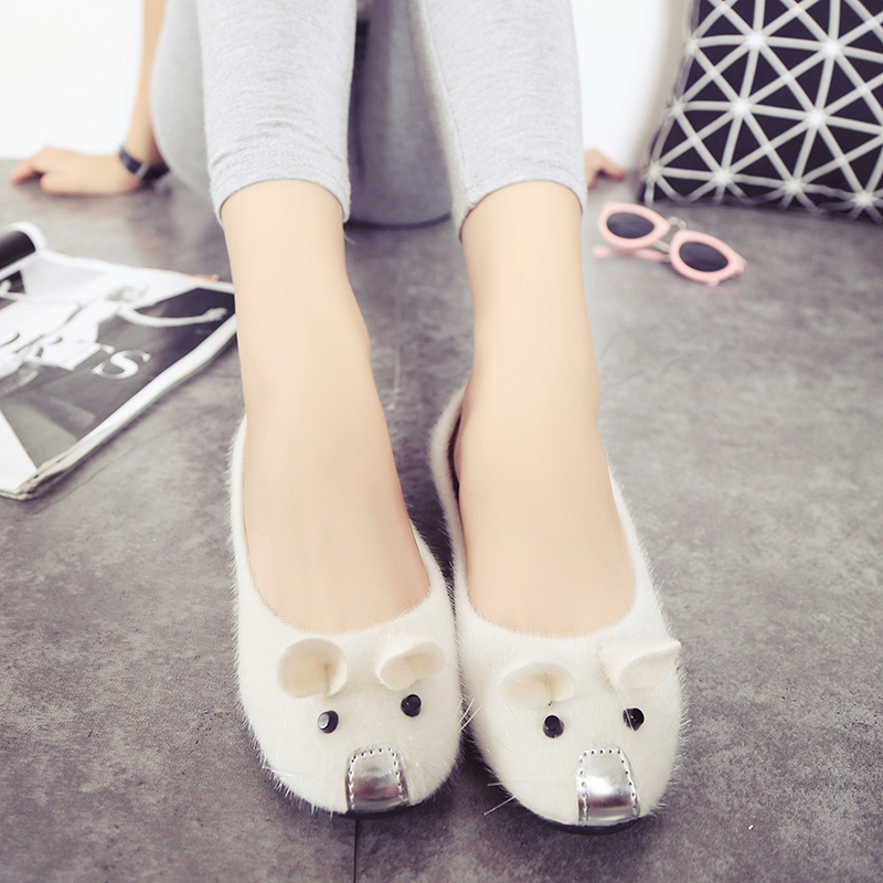 b791782e76c010 2018 New Fashion Spring And Summer Flat Heels Low Shallow Mouth Mouse Shoes  Female Shoes Girls Flat Shoes Women Loafers-in Women s Flats from Shoes on  ...