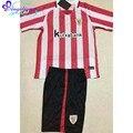 2017 Camisetas Athletic Club De Bilbao 2 Cores Athletic Bilbao Camisa de futebol 16 17 Crianças Athletic Bilbao Camisa de Manga Curta Kit