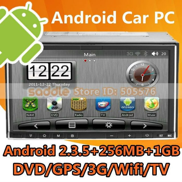 Android Car PC , 2012 Best 2 Din Car PC With Android 2.3