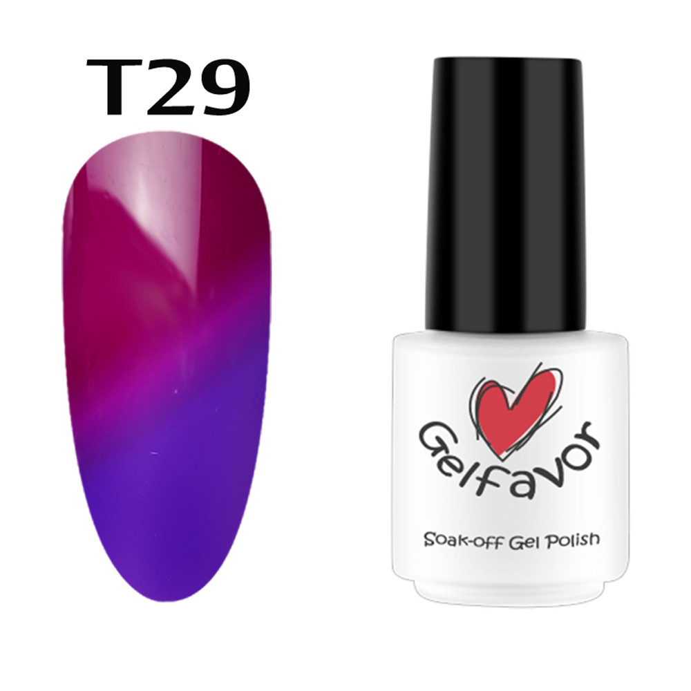 GELFAVOR 7ML Color Changing UV Gel Lacquer Nail Polish Set Nail Art decorations UV LED Gel Nail Polish Hybird Manicure Supplies