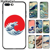 Maiyaca Hokusai Gelombang Besar Off Kanagawa Gambar Novelty Fundas Phone Case Cover UNTUK iPhone 8 7 6 6S plus X XS Max 55S SE XR(China)