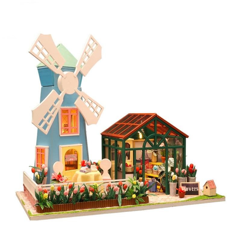 Diy Wooden Miniature Doll House Children Adult