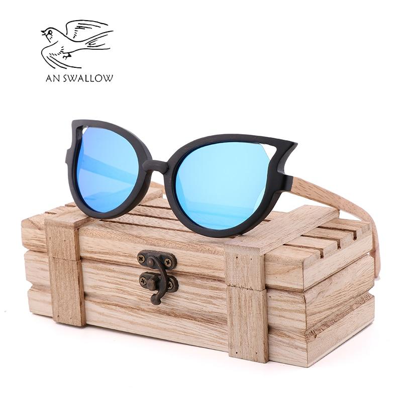 2049000a42 Clásico mariposa de moda gafas de bambú hecha a mano gafas de sol de madera  de