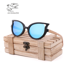 Classic Fashion Butterfly Glasses Handmade Bamboo Wood Sunglasses Polarizing Mens and Womens UV400 TAC