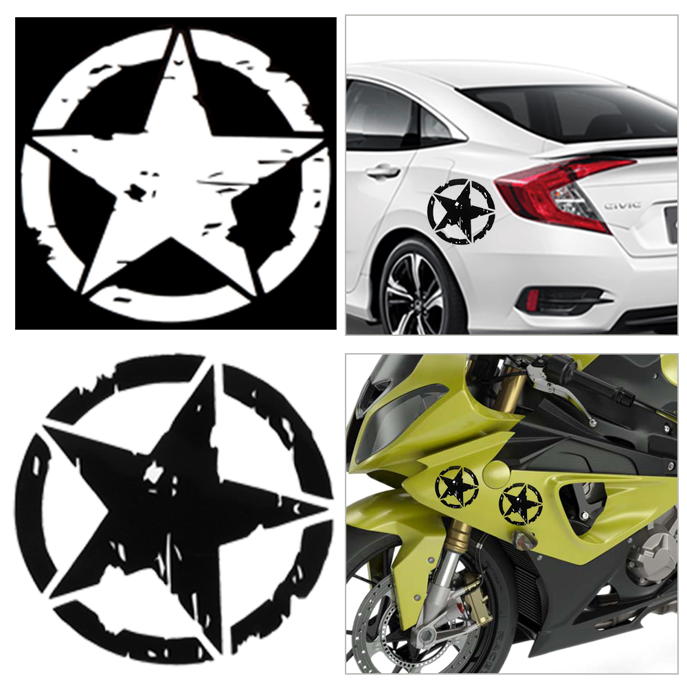 1pc car stickers 15cm15cm army star graphic decals motorcycle car body window stickers