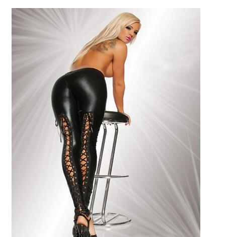 HTB1j1e2SpXXXXalXVXXq6xXFXXX9 Sexy Faux Leather Lace Up Leggings