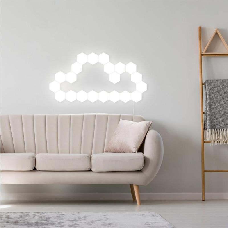 parede criativo decoração casa cor noite lâmpada