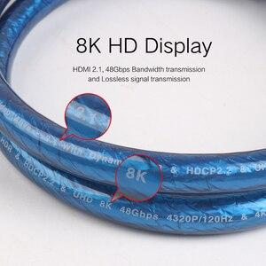 Image 5 - MOSHOU HDMI kablosu Ultra HD (UHD) 8K HDMI 2.1 AV 48Gbs ses ve Ethernet HDMI kablosu 1M 2M 5M 10M 15M 20M HDR 4:4:4