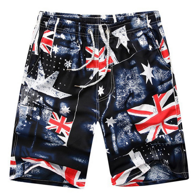 LASPERAL Brand   Shorts   Men Summer Fashion Print Quick Dry Beachwear   Short   Pants Causal Elastic Sportwear Male   Shorts   Plus Size