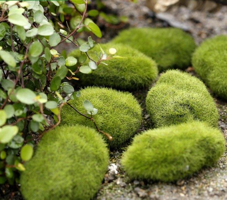 Us 0 39 30 Off Apricot 1 Stucke Grun Kunstliche Moos Steine Gras Moose Hausgarten Bonsai Dekoration Fur Gartenweg In Kunstliche Getrockneten