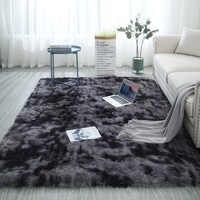 Europäische lange haar mode schlafzimmer teppich bay fenster nacht matte waschbar persönlichkeit decke farbverlauf wohnzimmer teppich
