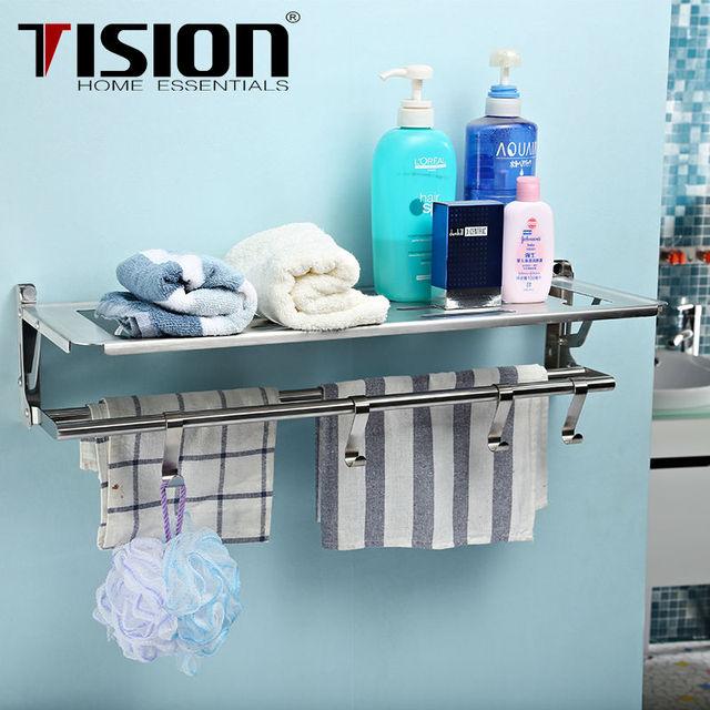 Aliexpress.com : Buy TISION Stainless steel Bathroom shelf wall ...