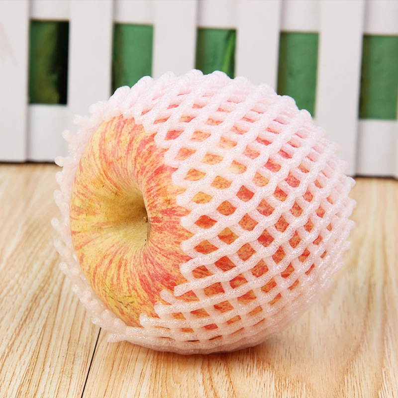 EMS Free Shipping 12 X 7cm Fruit Foam White EPE Foam Mesh Sleeve Net Thick Fruit Foam Sleeve Net For Apple Packing Material