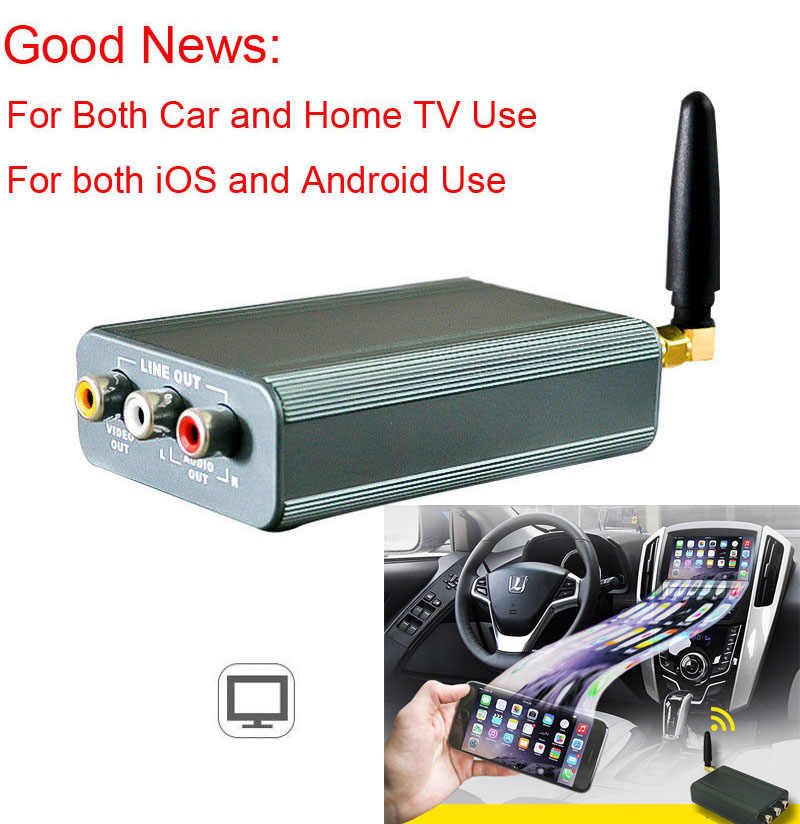For Home TV & Car Navigation HDMI WiFi Screen Mirroring Box Video Dongle Airplay for iPhone X 8 7 6 Plus iOS Android Phone to TV