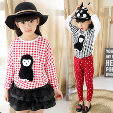 Character Blouse Children 3D Character Blouses Causal Long Sleeve Kids Girl Blouse Spring Autumn Kids Girl Clothes