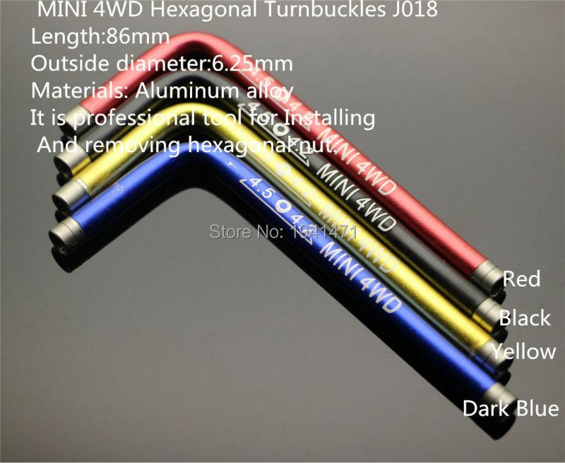 MINI 4WD Hexagonal Turnbuckles 4 2 4 5mm Self made Parts Tamiya MINI 4WD Professional Tool