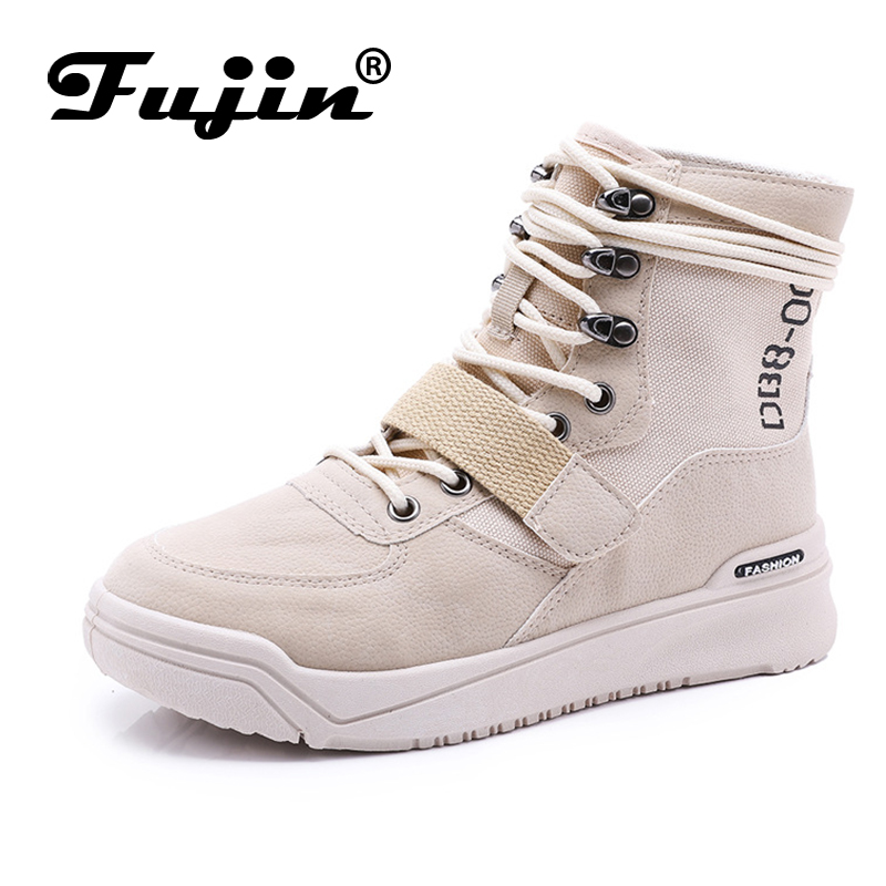 Fujin Brand Women Casual Shoes Pu Leather Lace Up Shoes Ladies Flat Shoes Spring Autumn Shoes for Women цены