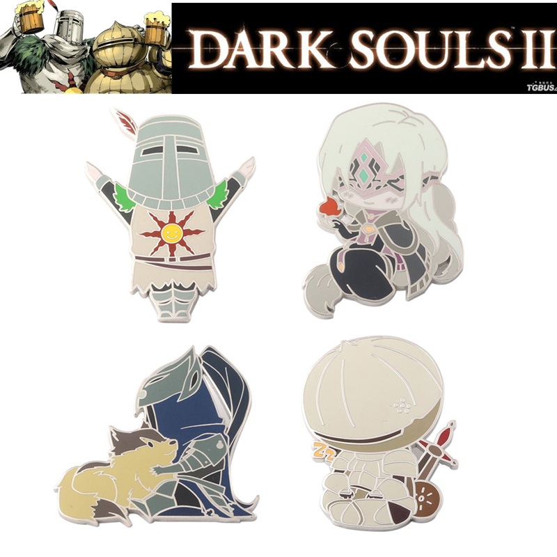 Dark Souls 3 Cosplay Props Enamel Badge Broochs Solaire Of Astora ARTORIAS Onion Knight Badges Women Men Halloween Party Gifts