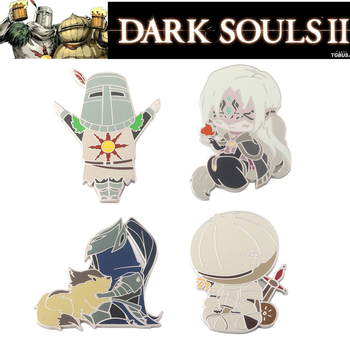 Dark Souls 3 Cosplay Props Enamel Badge Broochs Solaire of Astora ARTORIAS Onion Knight Badges Women Men Halloween Party Gifts image
