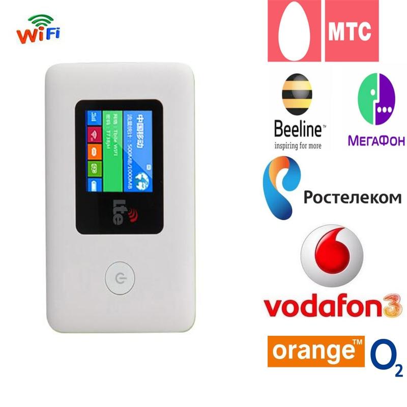 4 г WI-FI маршрутизатор автомобиля мобильную точку доступа Беспроводной широкополосный карман МИФИ Разблокировать LTE модем Беспроводной WI-FI ...