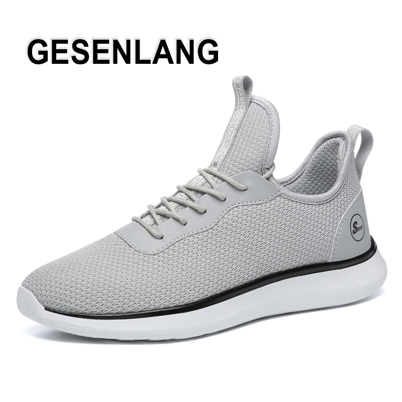 Men's Sport Running Shoes Breathable Mesh Big Size Lightweight Male Sneakers Nonslip Outdoor Walking Gym Trainers Athletic Shoes
