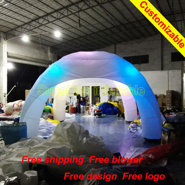 6mLx6mWx3mH charming LED advertising event wedding party spider dome inflatable tent with bright light system & 6mLx6mWx3mH charming LED advertising event wedding party spider ...