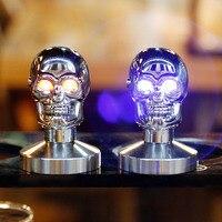 Stainless Steel Espresso Coffee Tamper, Pressure Hammer Powder Coffee Tamper skull eye shine 51mm