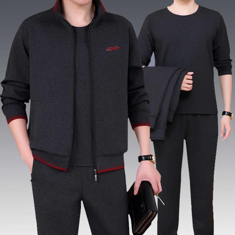 3 stücke Marke Trainingsanzug Männer Neue Schweiß Anzug Trainingsanzug Drei-stück Sweatershirt Set Casual Männer Sportswear Sets Mode Heißer verkauf NBA45