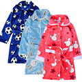 New Arrival Children's Bathrobes with Buttons Autumn and Winter Kids Bathrobe Thickening Coral Velvet Bathrobe Girl Flannel Robe